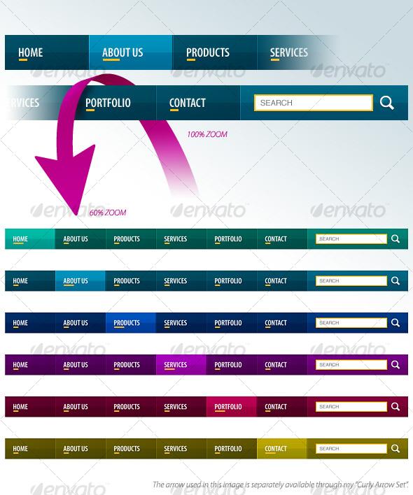 Slick Navigation Bars - Navigation Bars Web Elements