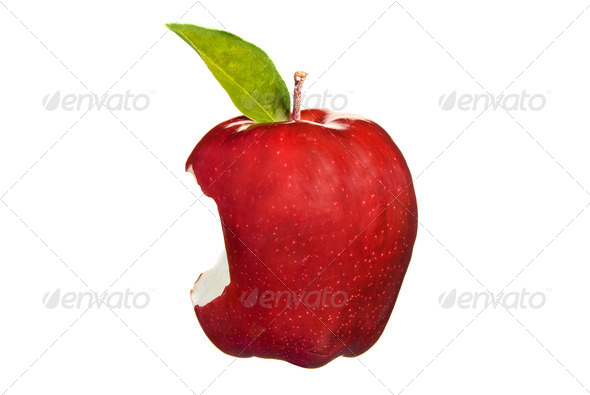 Red apple bite - Stock Photo - Images