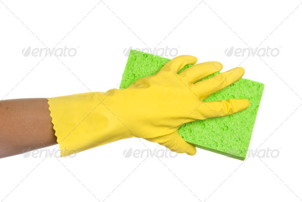Sponge and glove - Stock Photo - Images