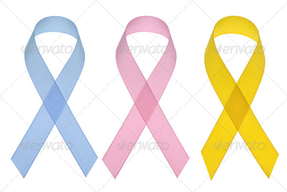Cancer awareness ribbons - Stock Photo - Images