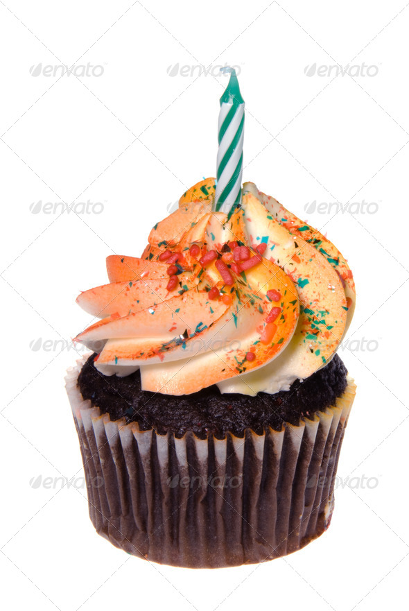 Isolated cupcake - Stock Photo - Images