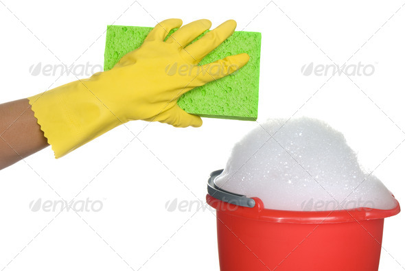 Cleaning supplies - Stock Photo - Images