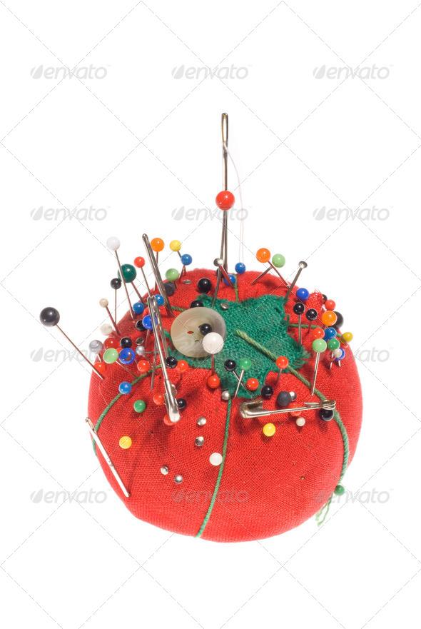 Pin cushion - Stock Photo - Images
