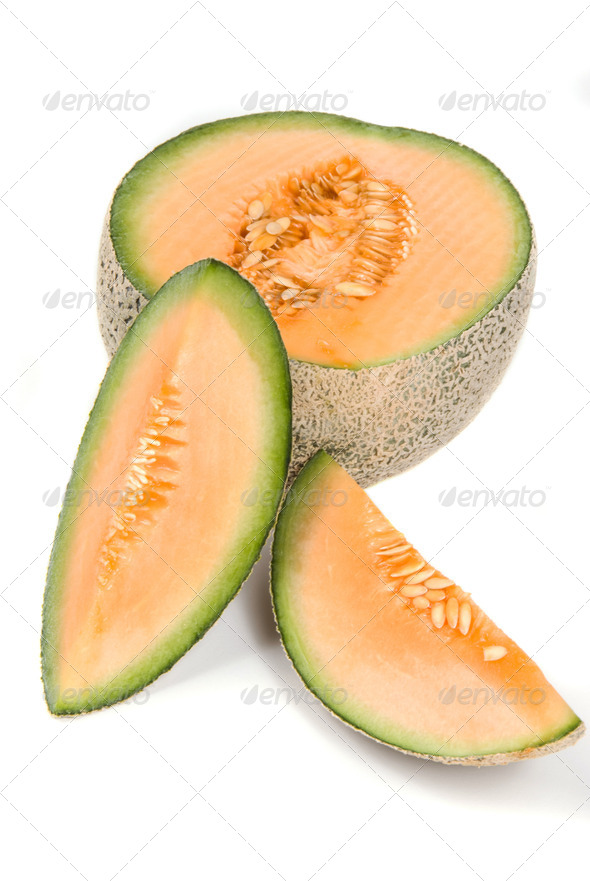 Cantaloupe fruit - Stock Photo - Images