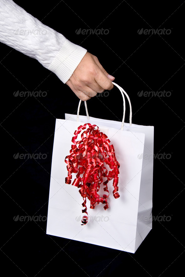 White shopping bag - Stock Photo - Images