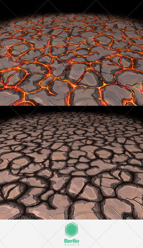 Lava Cracks And Rock Tileable Texture - 3DOcean Item for Sale