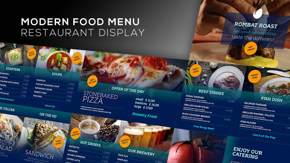 Modern Food Menu - Restaurant Display By Marnica | Videohive