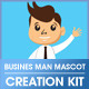 Business Man Mascot Creation Kit - GraphicRiver Item for Sale