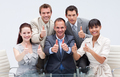 Confident business team with thumbs up - PhotoDune Item for Sale