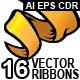 16 Vintage Ribbons - GraphicRiver Item for Sale