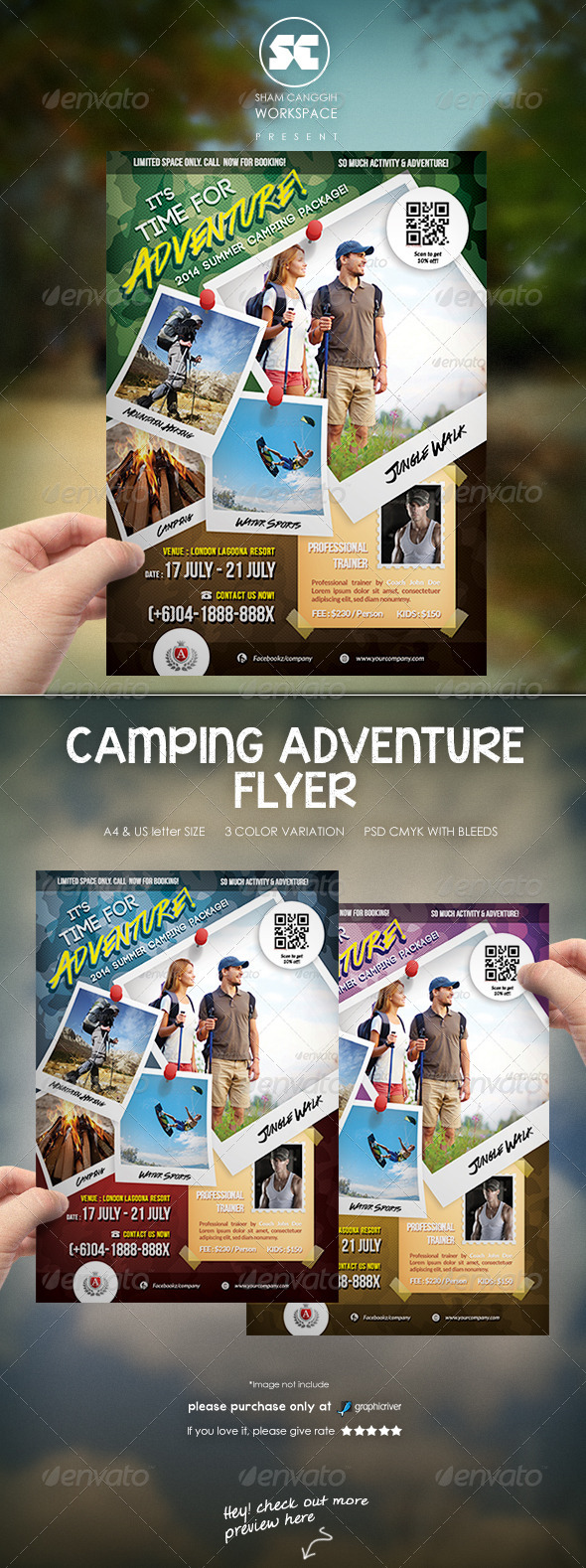 Camping Adventure Flyer - Sports Events