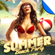 Retro Summer Beach Party Flyer Template