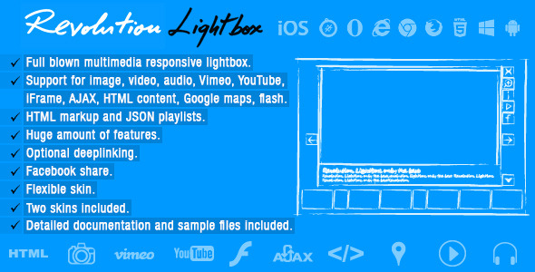 Revolution Lightbox - CodeCanyon Item for Sale