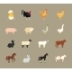 Farm Animals Set in Flat Style - GraphicRiver Item for Sale