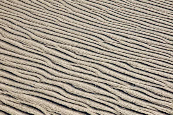 A rippled sand dune - Stock Photo - Images