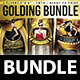Golding Bundle (Flyer Template 4x6) - GraphicRiver Item for Sale