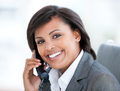 Portrait of a beautiful business woman talking on phone - PhotoDune Item for Sale