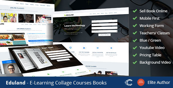 Eduland – Collage Career HTML Landing Page