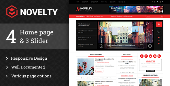 Novelty responsive HTML5 template - Corporate Site Templates