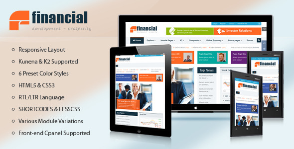 Financial – Responsive Joomla News Template