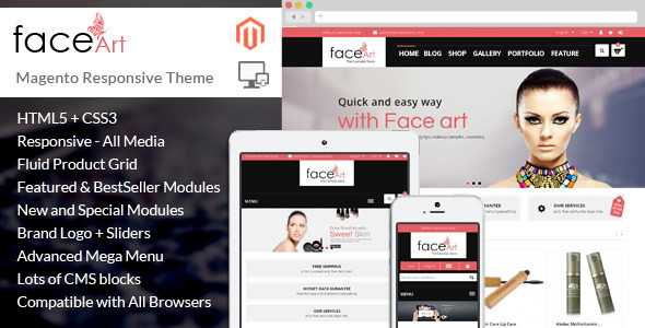 Image of Face Art - Magento Responsive Theme