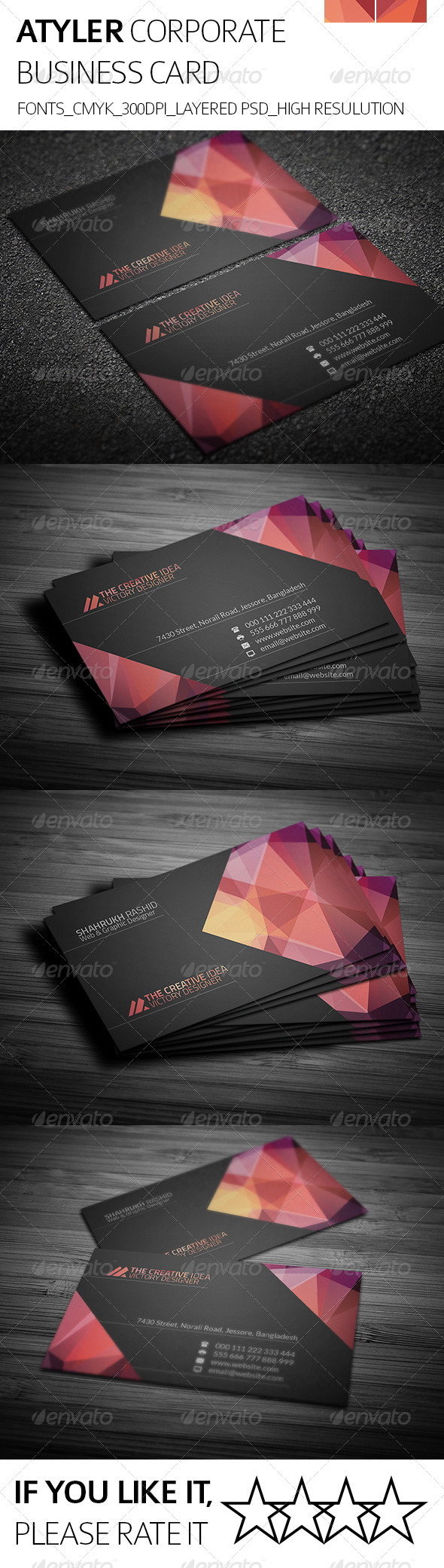 Atyler & Corporate Business Card - Creative Business Cards
