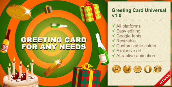 HTML5 Greeting Card Universal - CodeCanyon Item for Sale