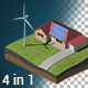 Green Energy Isometric with Alpha  - VideoHive Item for Sale