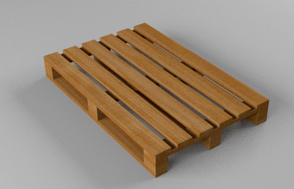 wooden pallet - 3DOcean Item for Sale