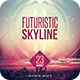 Futuristic Skyline Flyer - GraphicRiver Item for Sale