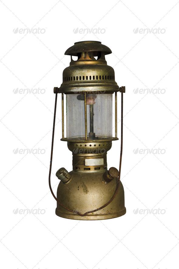 Antique Hurricane Lamp - Stock Photo - Images