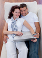 Family shopping online with laptop and credit card - PhotoDune Item for Sale