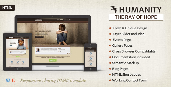 Humanity | Charity HTML5 Template