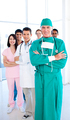 A diverse medical group standing in front of the camera - PhotoDune Item for Sale