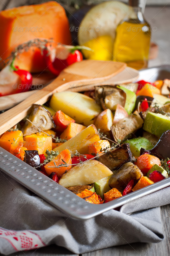Roasted vegetables - Stock Photo - Images