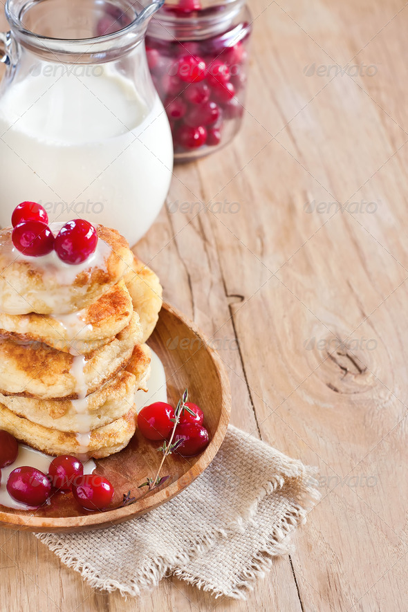 Russian quark pancakes background - Stock Photo - Images