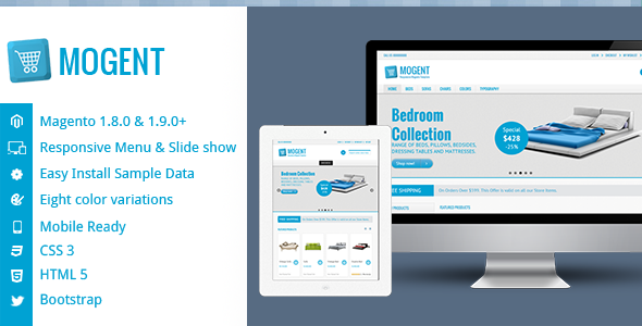Mogent:  Mobile ready Magento template - Shopping Magento