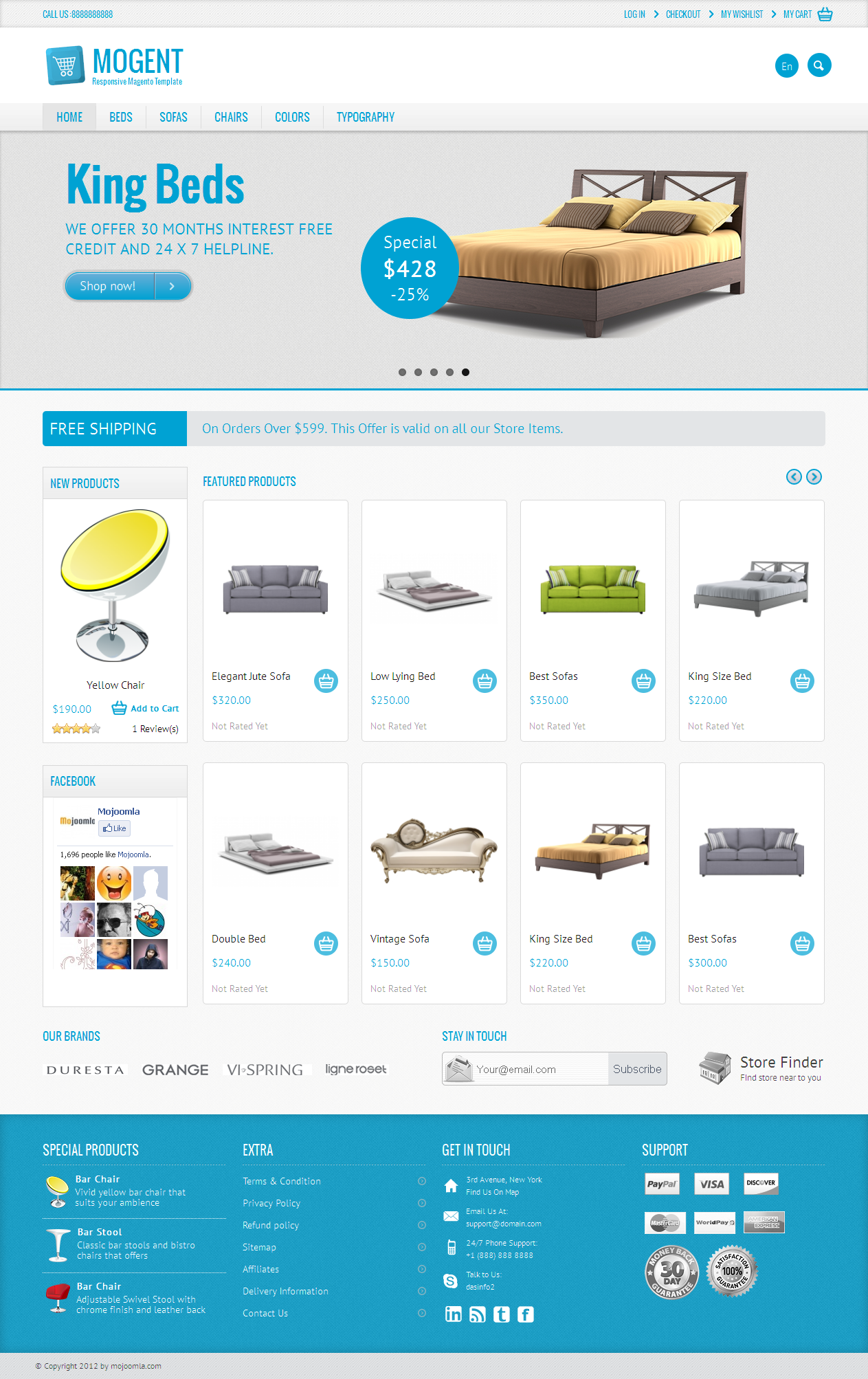 Mogent: Mobile ready Magento template by dasinfomedia   ThemeForest