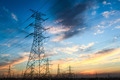 power transmission tower at dusk - PhotoDune Item for Sale