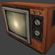 Low Poly: Old Television - 3DOcean Item for Sale