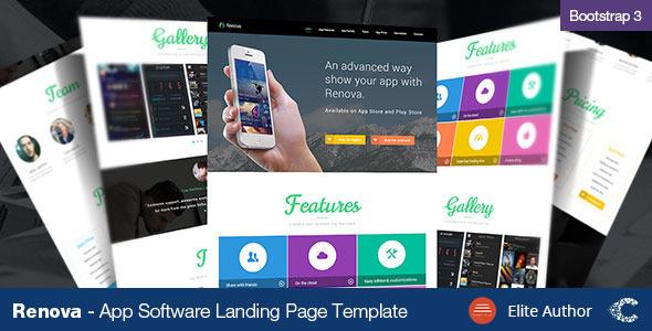 Renova – Startup App Landing Page Template