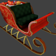 Low Poly: Santa Claus Sleigh - 3DOcean Item for Sale