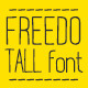 Freedo Tall Font - GraphicRiver Item for Sale