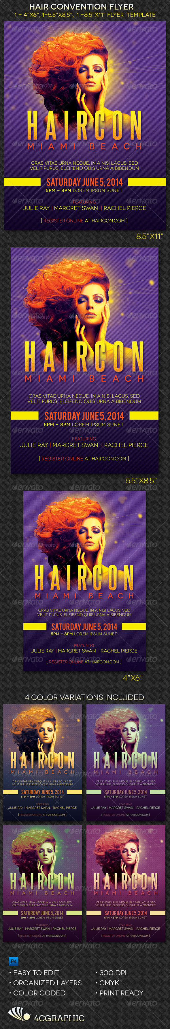Hair Convention  Flyer Template - Events Flyers