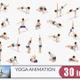 Woman Yoga Animation Bundle - VideoHive Item for Sale