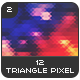 12 Triangle Pixel Backgrounds Pack 2 - GraphicRiver Item for Sale