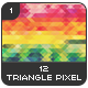 12 Triangle Pixel Backgrounds Pack 1 - GraphicRiver Item for Sale