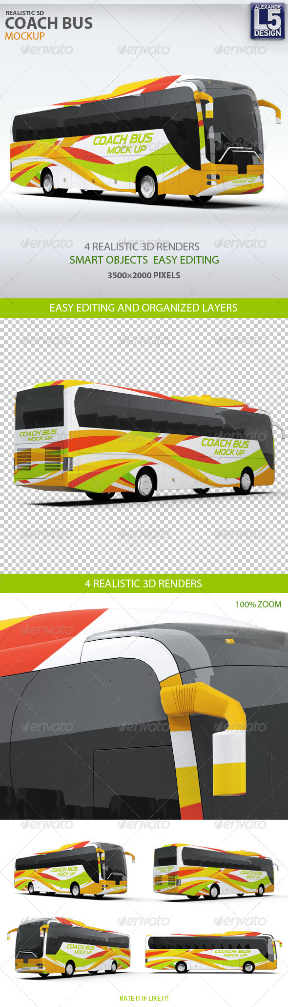 Coach Bus mockup - Vehicle Wraps Print