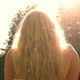 Girl Looking Into Sun 2 - VideoHive Item for Sale