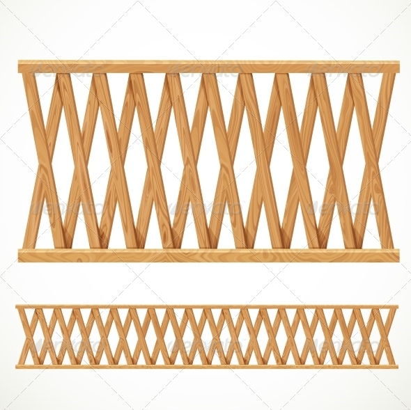 Wooden Fence - Buildings Objects